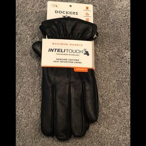 NWT Men's Dockers Lined Leather Gloves.